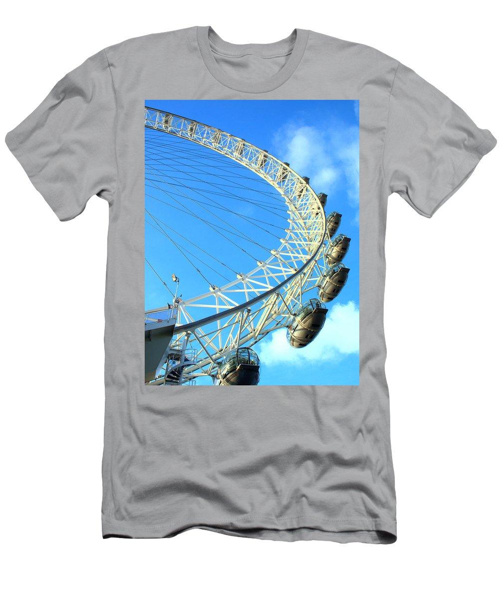 London Eye Men's T-Shirt (Athletic Fit) featuring the photograph London Eye by Rachel Mirror