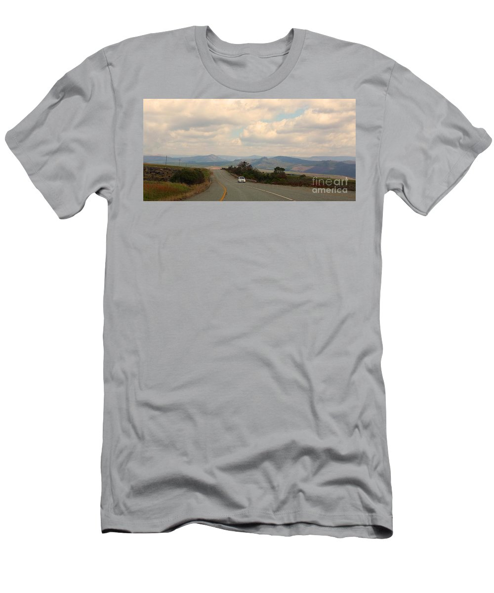 Car Men's T-Shirt (Athletic Fit) featuring the photograph Lone Car by Lisa Byrne