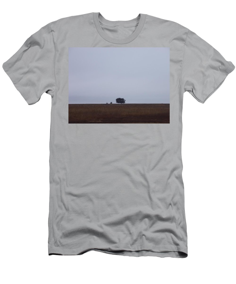 Sandy Pint Men's T-Shirt (Athletic Fit) featuring the photograph Lonely Horizon by Two Bridges North