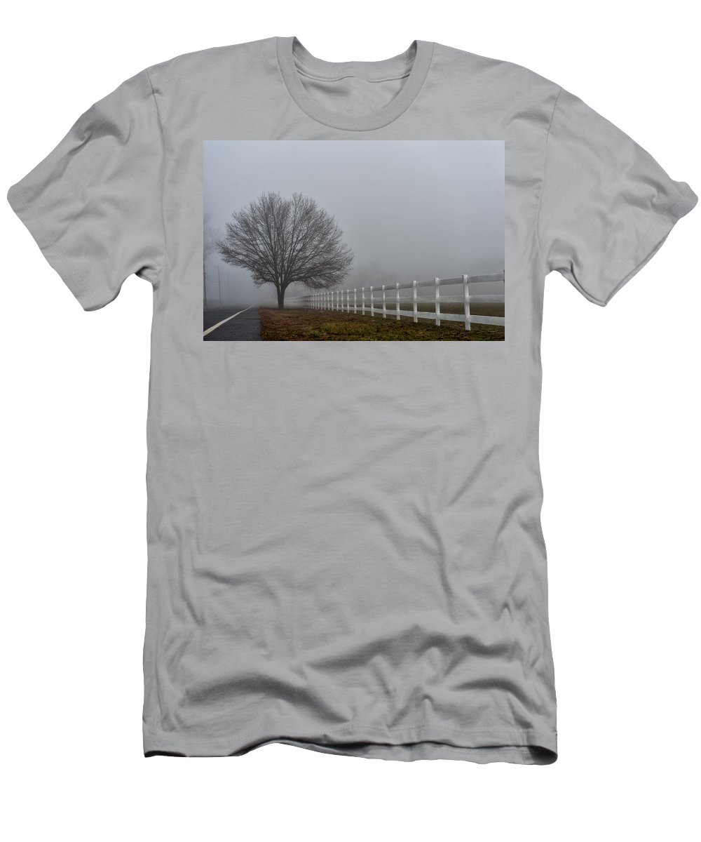 Goshen Pond Men's T-Shirt (Athletic Fit) featuring the photograph Lonely Tree by Louis Dallara