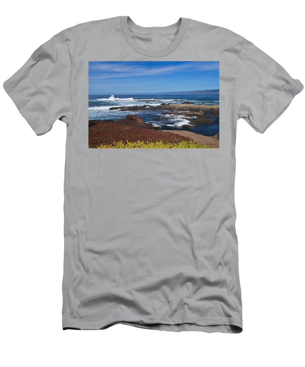 Ocean Men's T-Shirt (Athletic Fit) featuring the photograph Lonesome Gull by Donna Blackhall