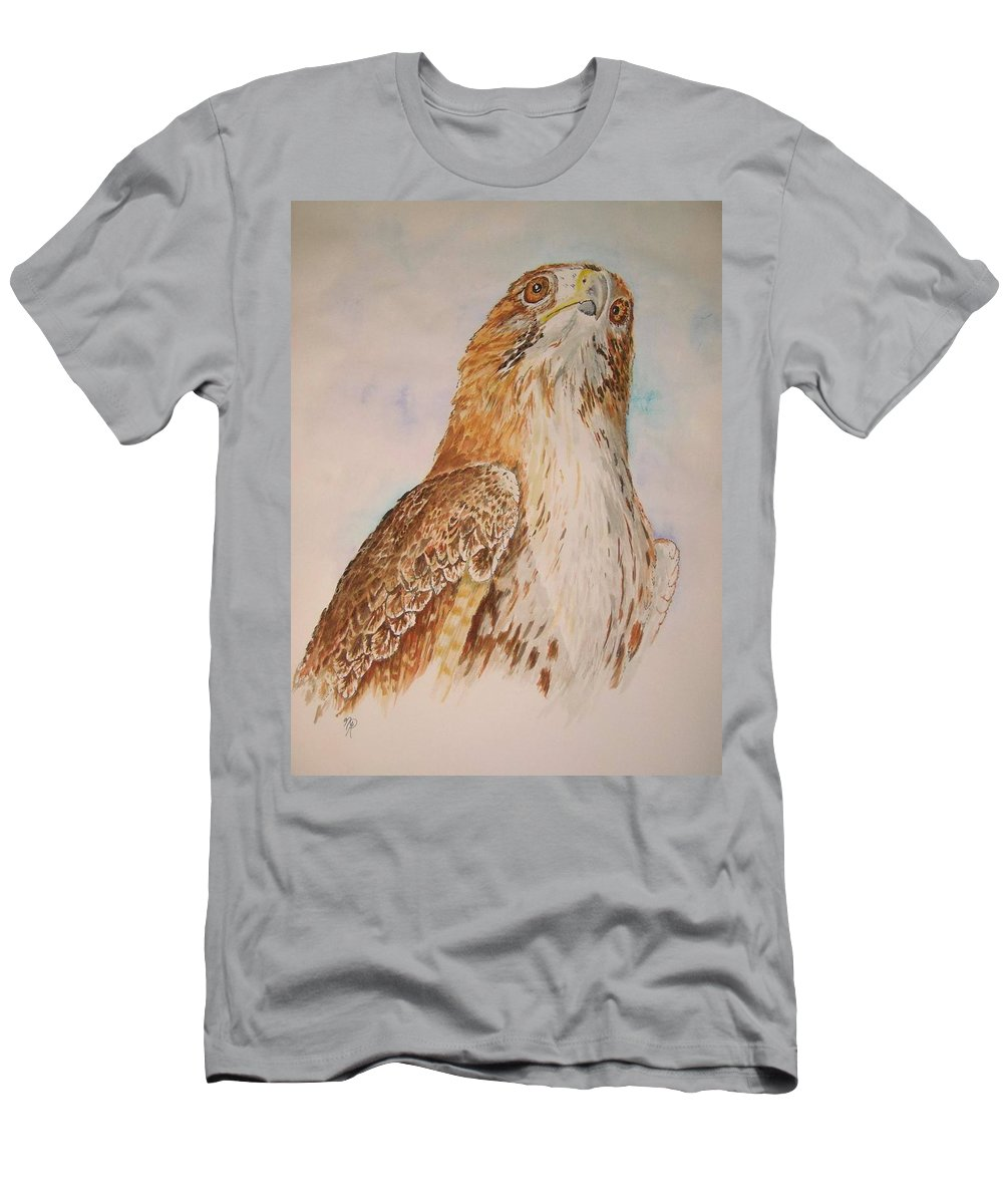 Hawk Men's T-Shirt (Athletic Fit) featuring the painting Looking Toward The Future by Nicole Angell