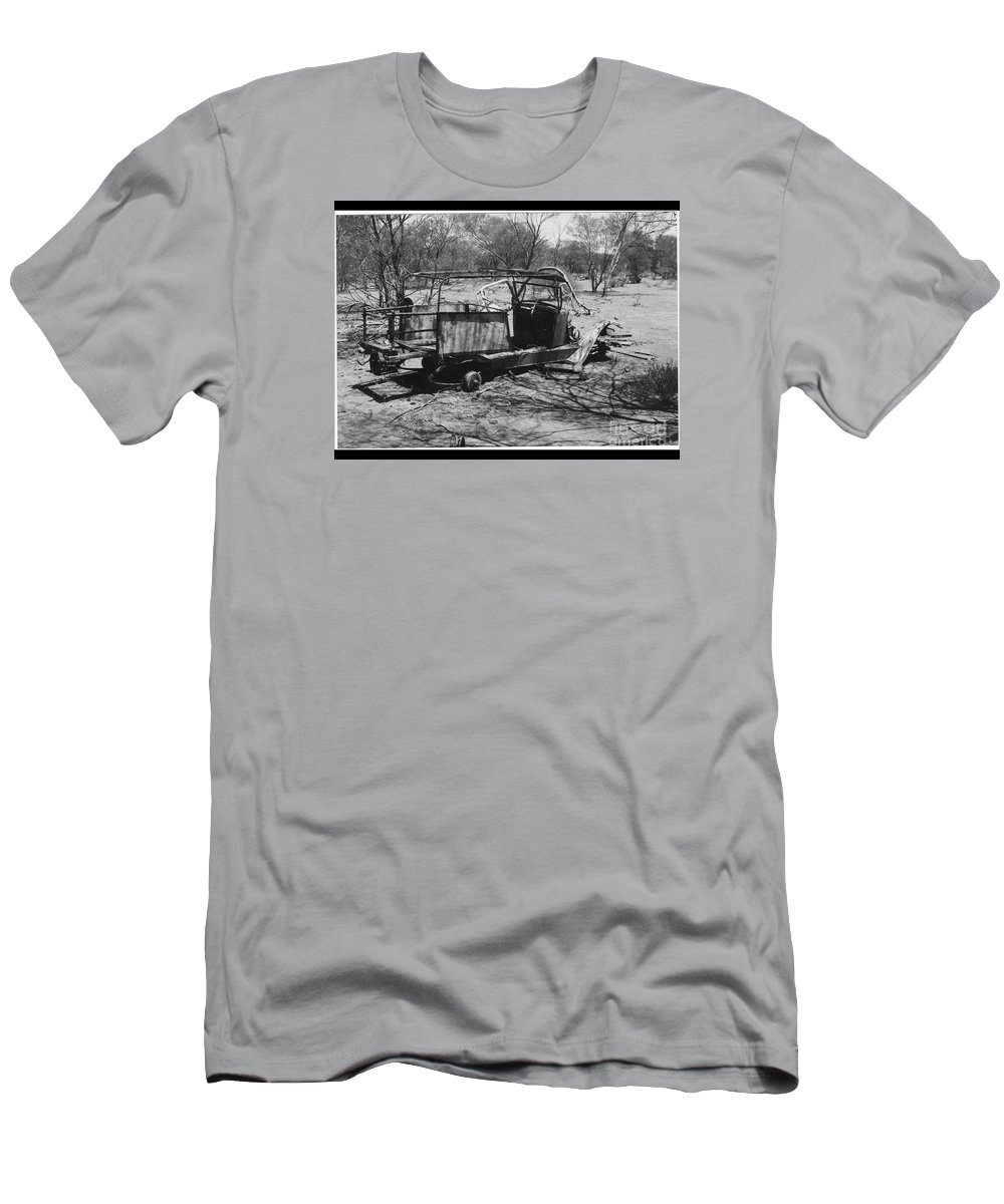 Men's T-Shirt (Athletic Fit) featuring the photograph Lost Also by Barry Olsen