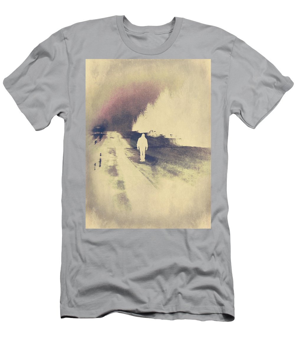 Hitch Hiker Men's T-Shirt (Athletic Fit) featuring the photograph Lost Hitch Hiker by The Artist Project