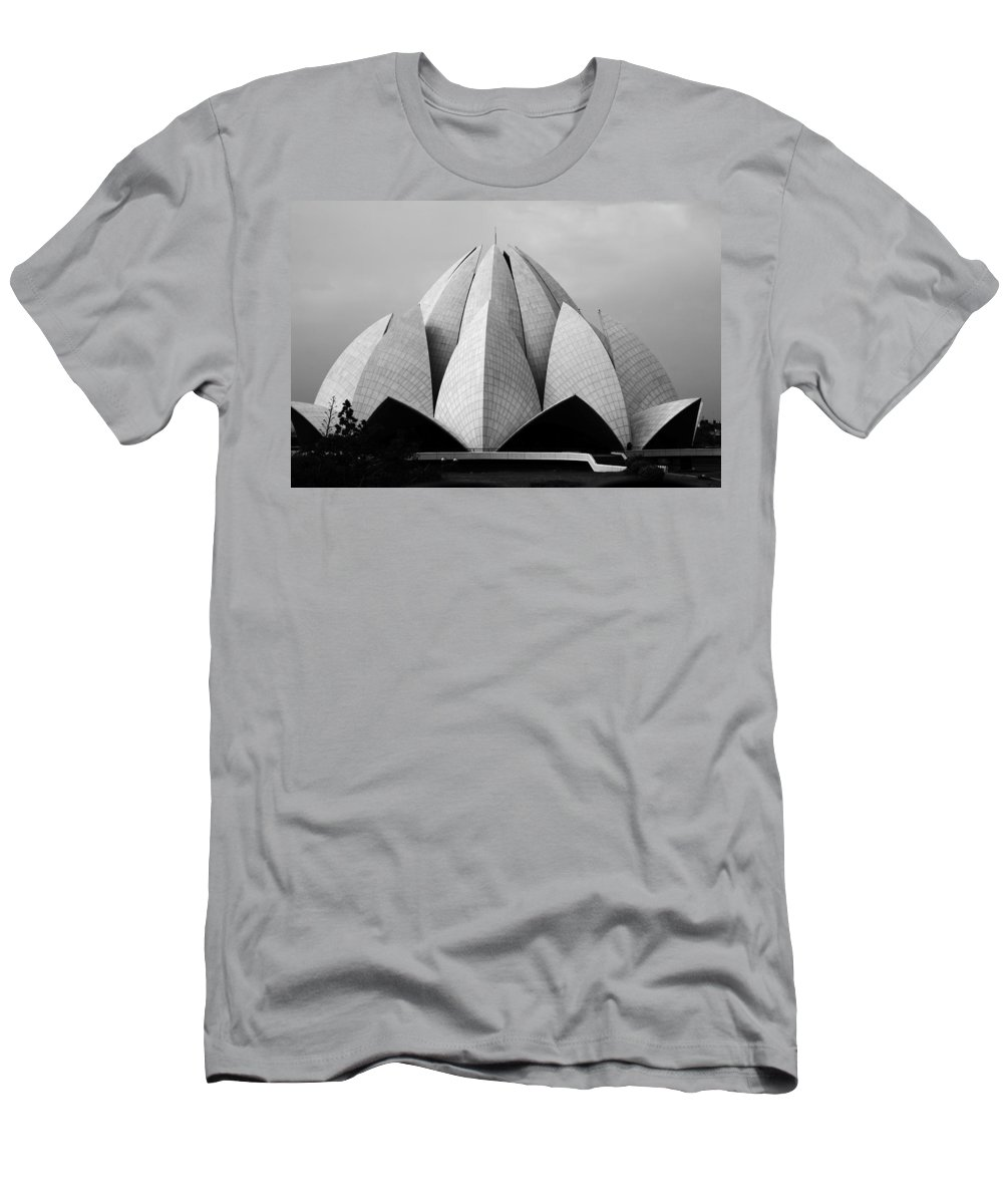 Architecture Men's T-Shirt (Athletic Fit) featuring the photograph Lotus Temple - New Delhi - India by Aidan Moran