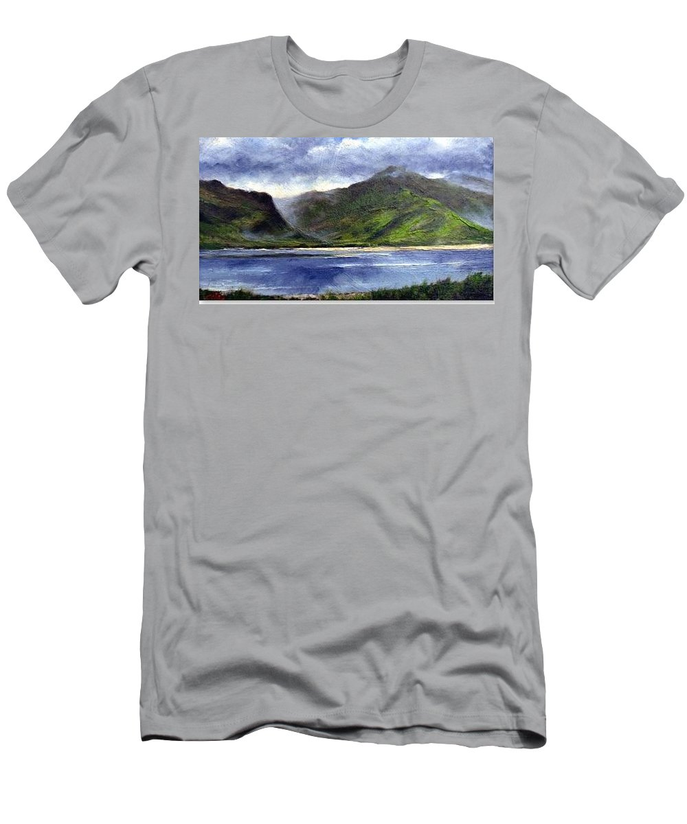 Irish Men's T-Shirt (Athletic Fit) featuring the painting Loughros Bay Ireland by Jim Gola