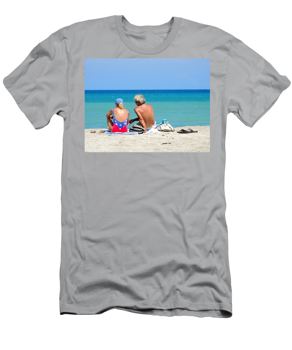 Couples Men's T-Shirt (Athletic Fit) featuring the photograph Love Is In The Air by Marilyn Holkham