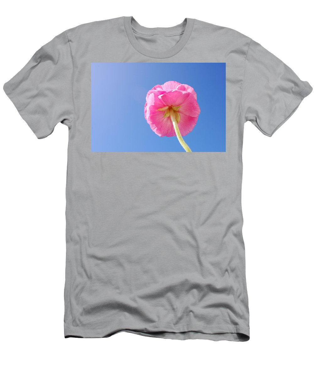 Flower Men's T-Shirt (Athletic Fit) featuring the photograph Lovely Pink Flower Series 5 Or 5 by May Photography