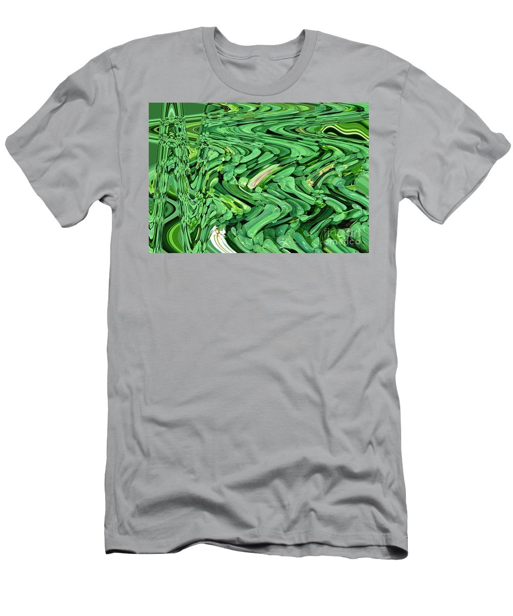 Four Men's T-Shirt (Athletic Fit) featuring the photograph Lucky Clovers by Carol Lynch