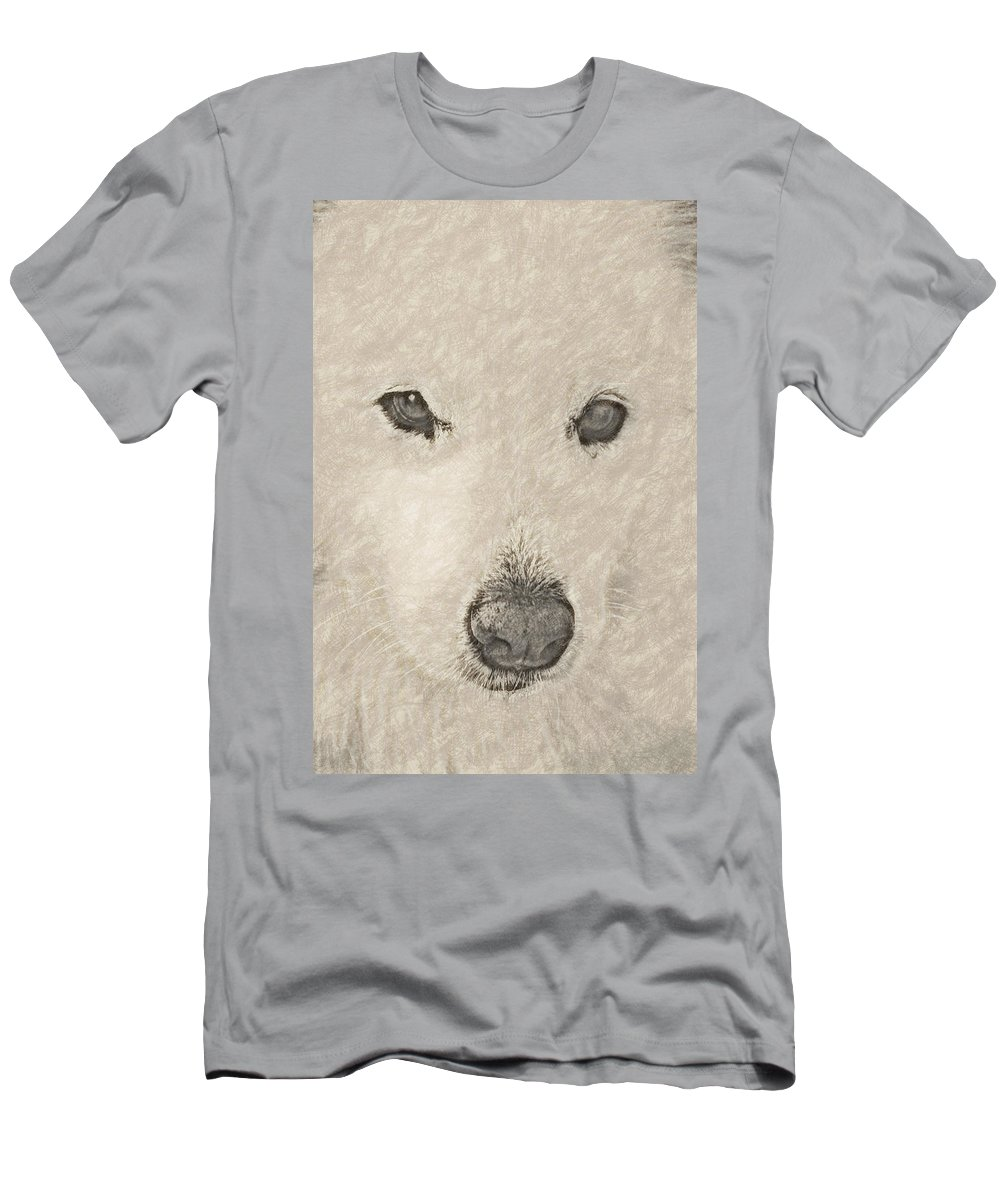 Dog Men's T-Shirt (Athletic Fit) featuring the digital art Lucy Pastel Highlight by David Lange