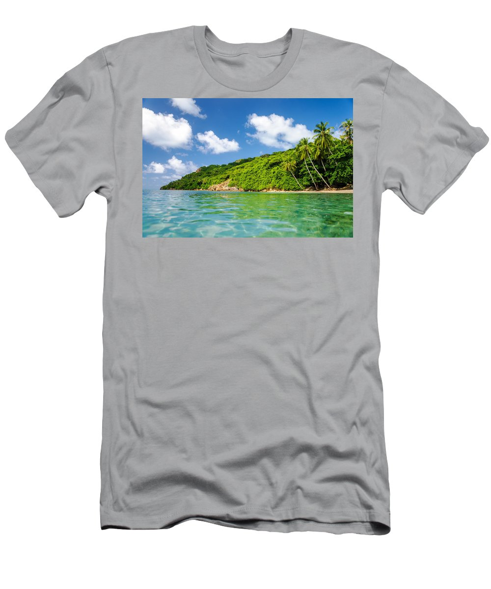 Bay Men's T-Shirt (Athletic Fit) featuring the photograph Lush Tropical Coast by Jess Kraft