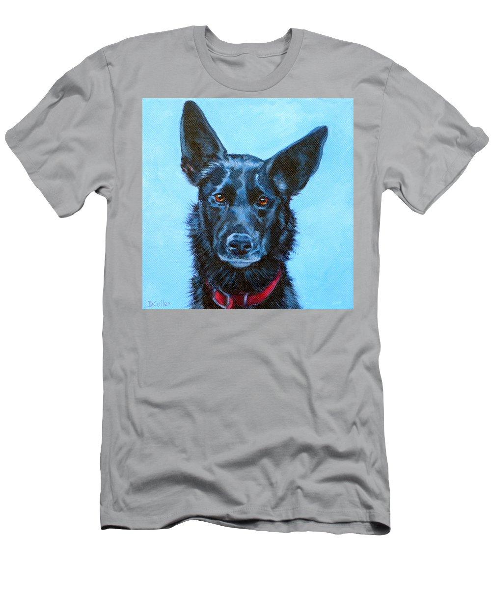 Kelpie Men's T-Shirt (Athletic Fit) featuring the painting Macchiato by Deborah Cullen