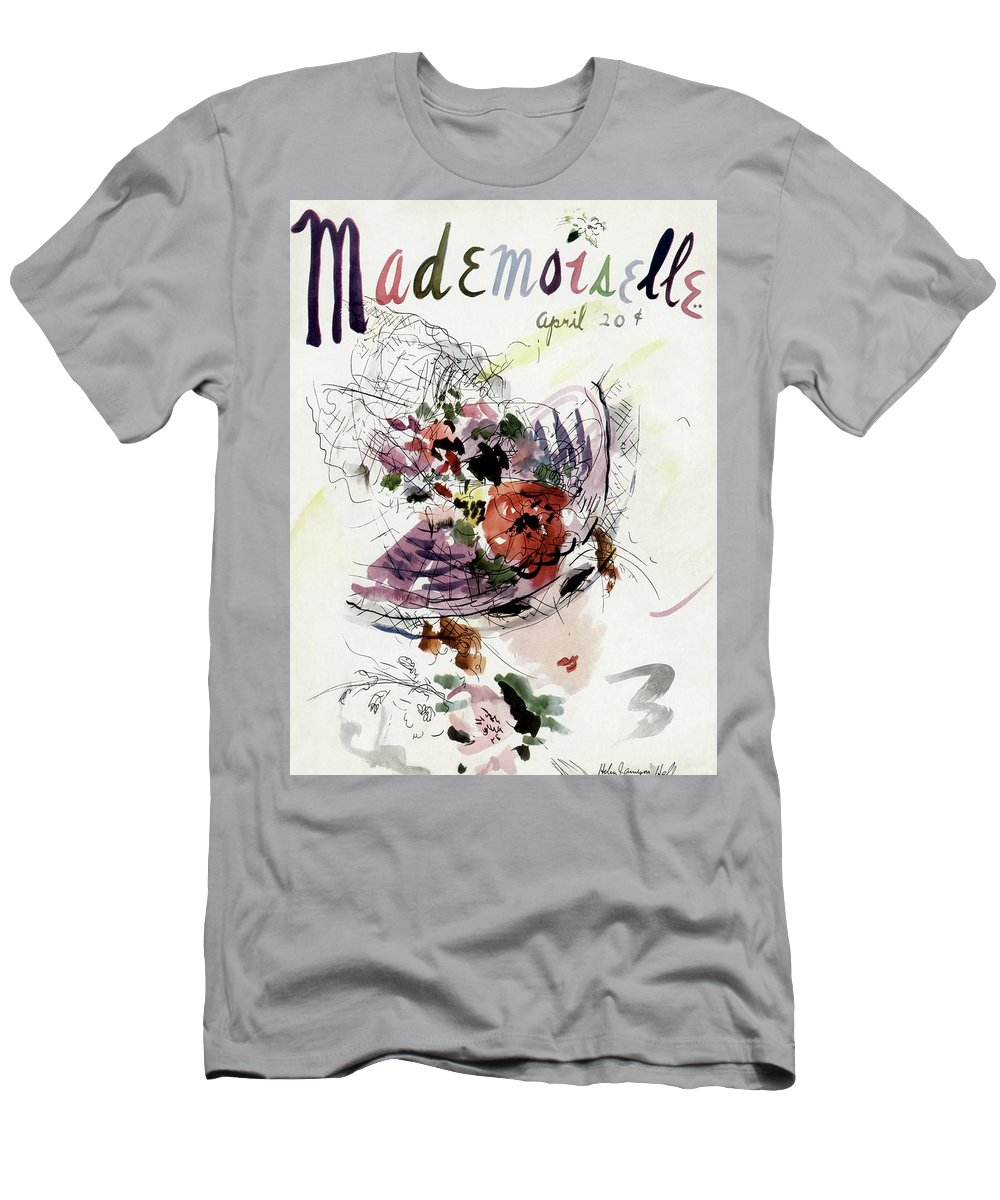 Fashion T-Shirt featuring the photograph Mademoiselle Cover Featuring An Illustration by Helen Jameson Hall