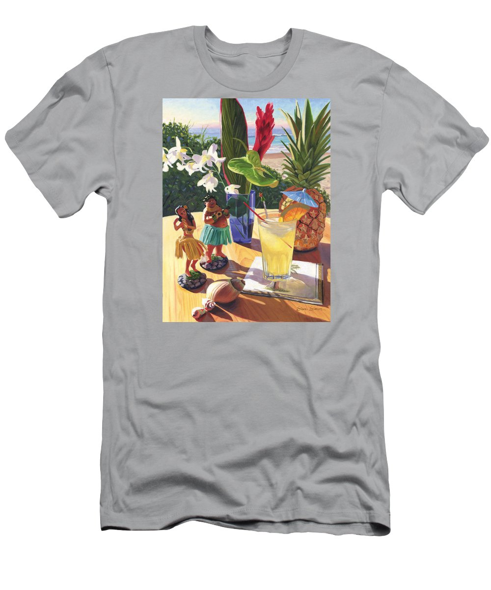 Mai Tai Men's T-Shirt (Athletic Fit) featuring the painting Mai Tai by Steve Simon