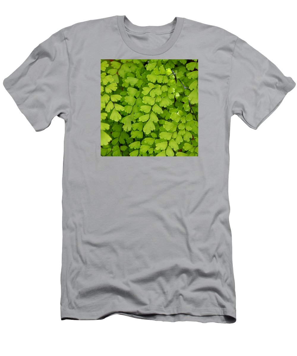 Fern Men's T-Shirt (Athletic Fit) featuring the photograph Maidenhair Fern by Art Block Collections