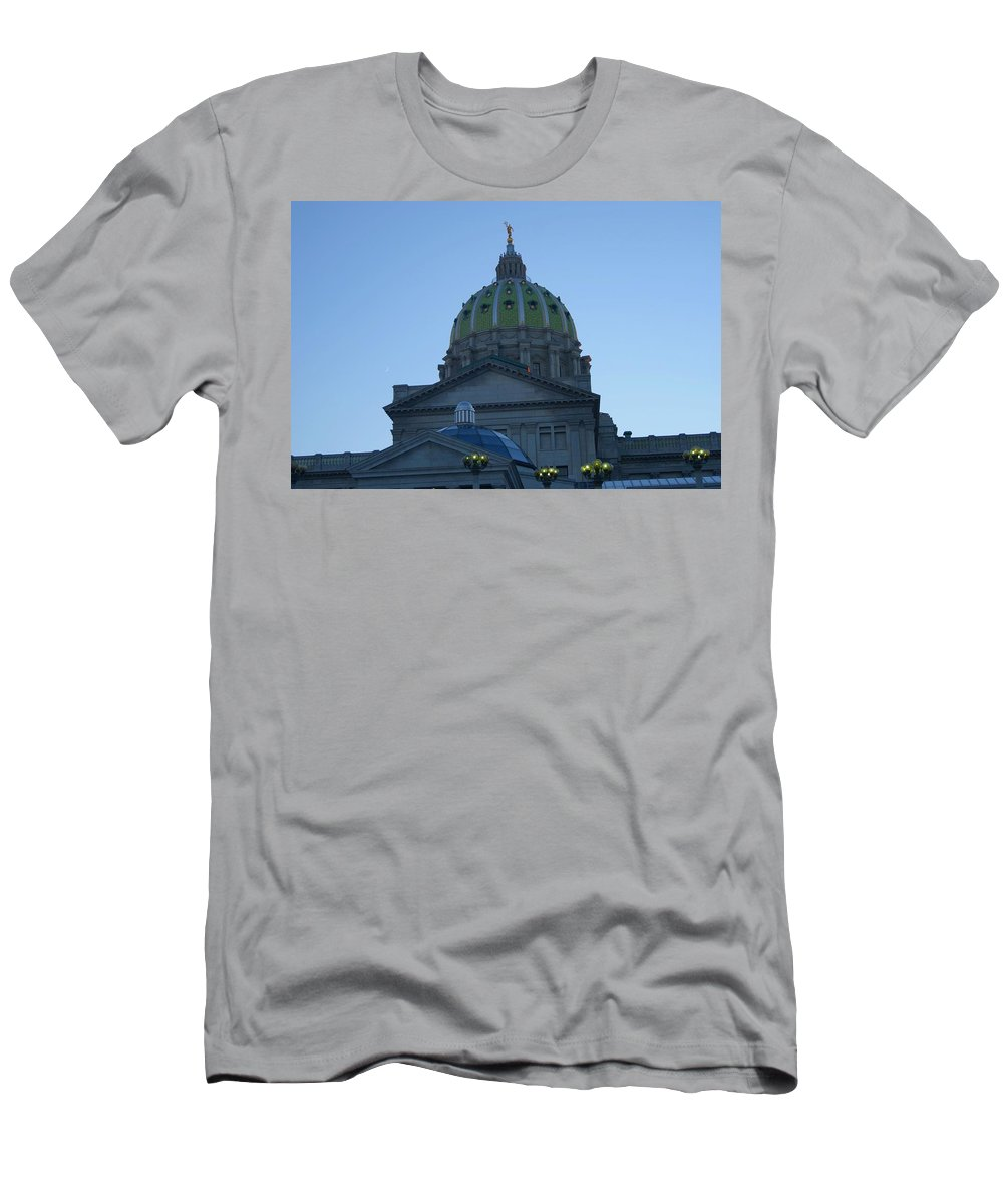 State Men's T-Shirt (Athletic Fit) featuring the photograph Main Dome Of The State Capital by Rob Luzier