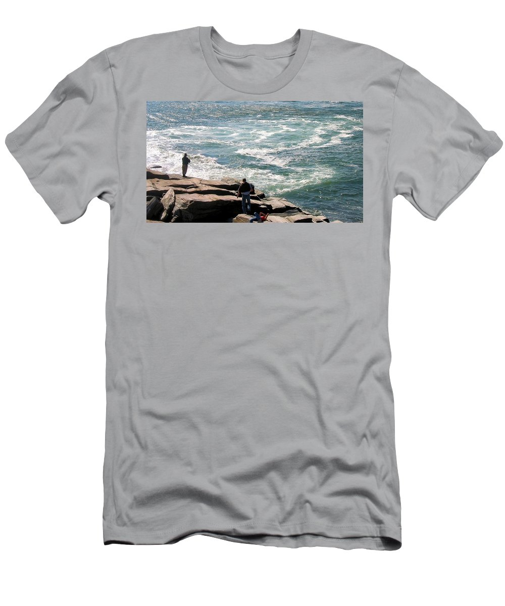 Maine Men's T-Shirt (Athletic Fit) featuring the photograph Maine 2002 I by Robert McCulloch