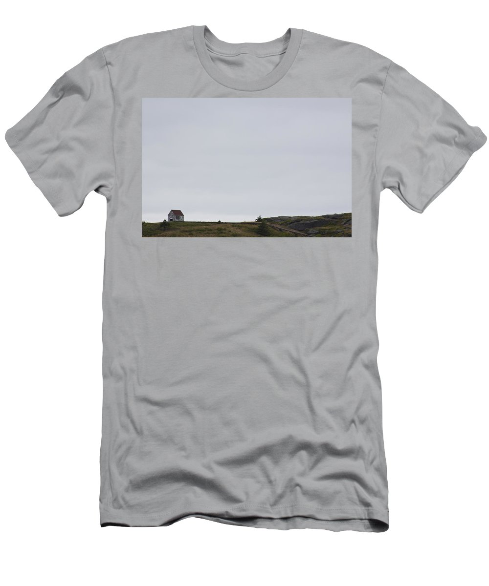 Manana Men's T-Shirt (Athletic Fit) featuring the photograph Manana Shed by Jean Macaluso