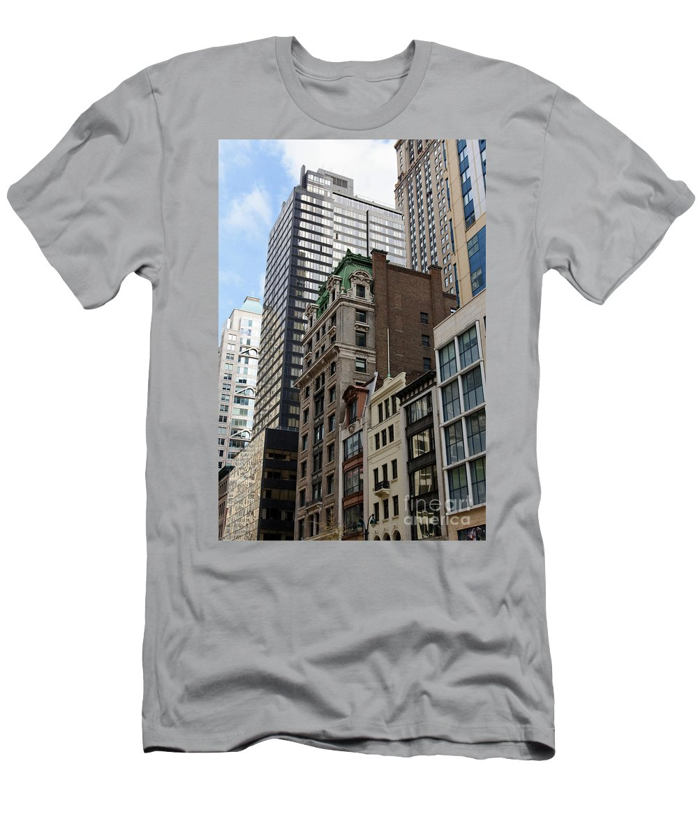 5th Avenue Men's T-Shirt (Athletic Fit) featuring the photograph Manhattan Architecture by Jannis Werner