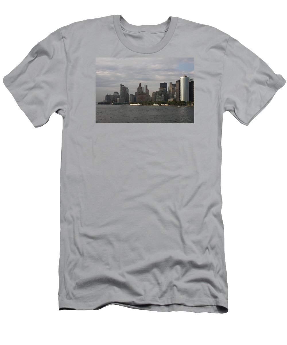 New York City Men's T-Shirt (Athletic Fit) featuring the photograph Manhattan Skyline 2010 by Christiane Schulze Art And Photography