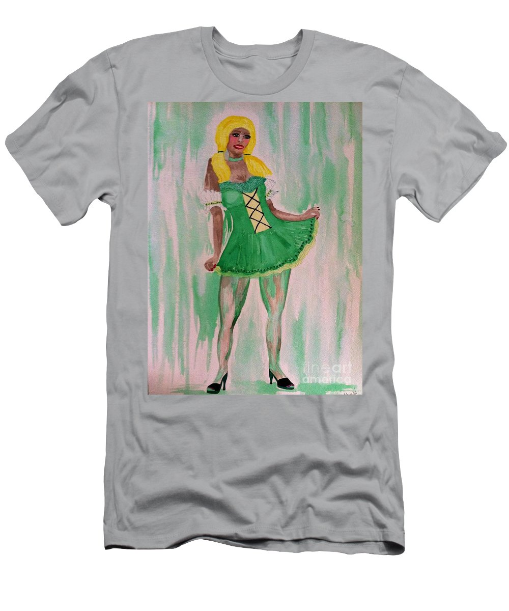 Irish Men's T-Shirt (Athletic Fit) featuring the drawing March by Melissa Darnell Glowacki