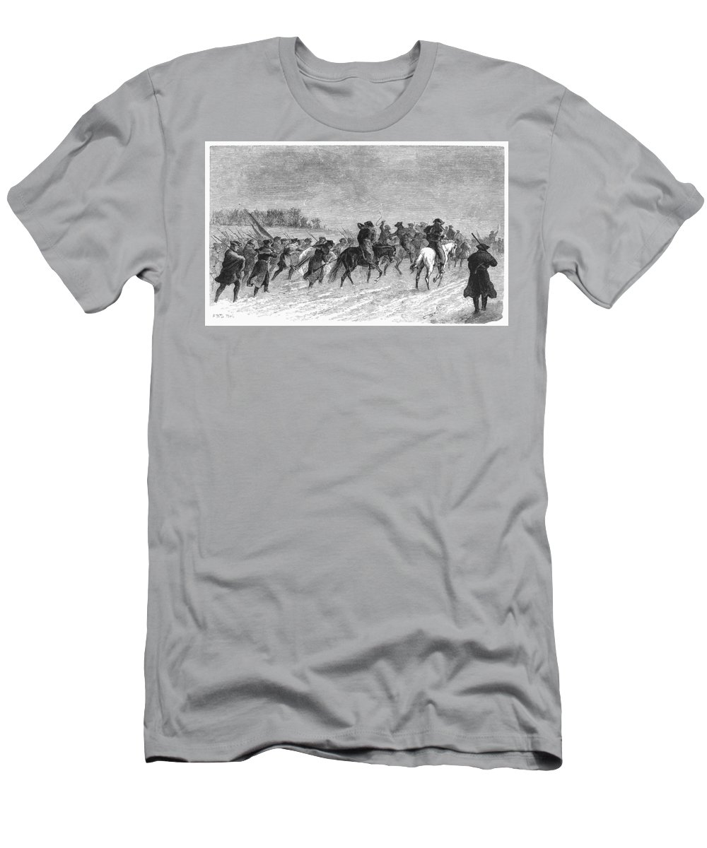 1776 Men's T-Shirt (Athletic Fit) featuring the photograph March To Trenton, 1776 by Granger