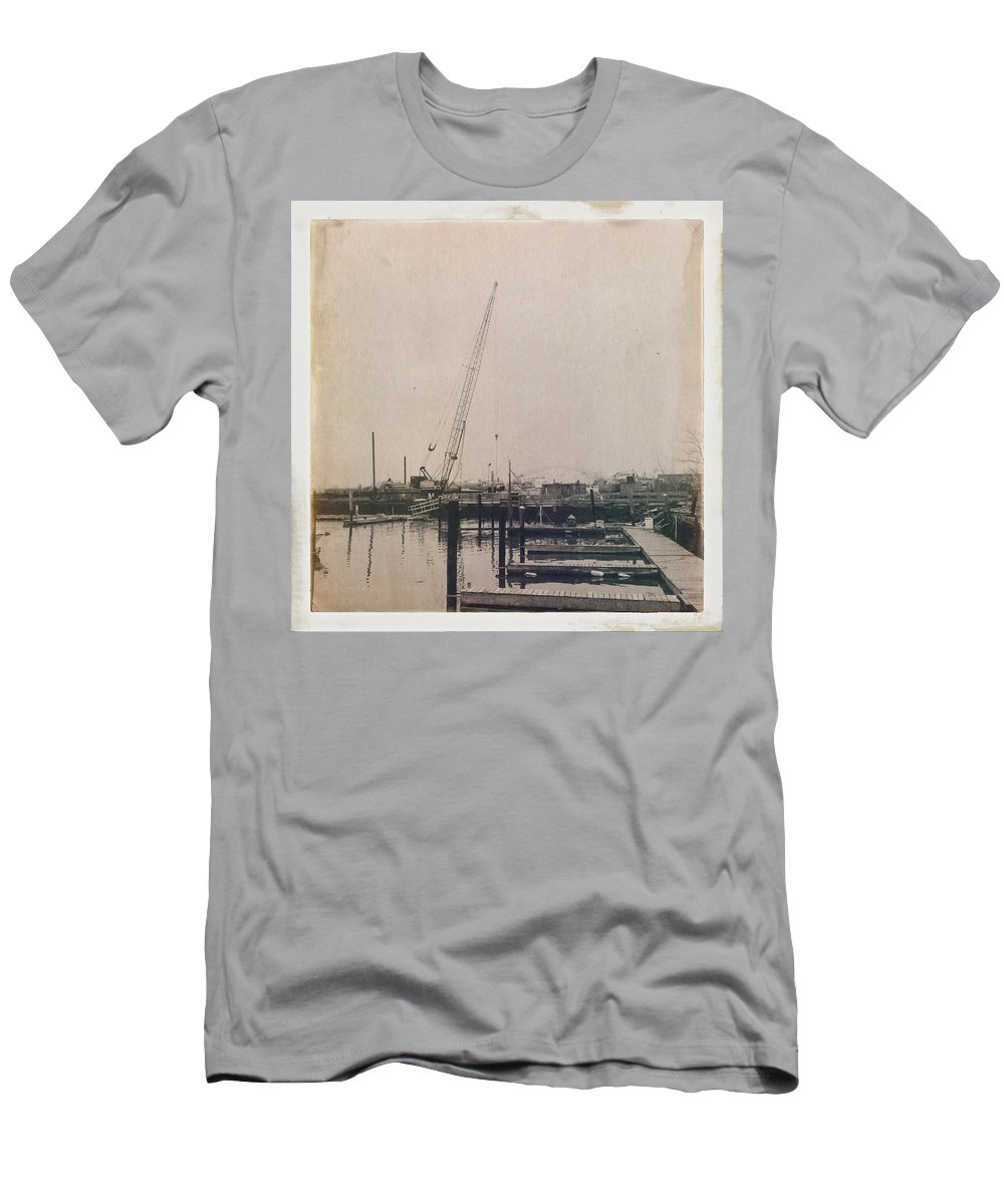 Antique Men's T-Shirt (Athletic Fit) featuring the photograph Marina 2 by H James Hoff