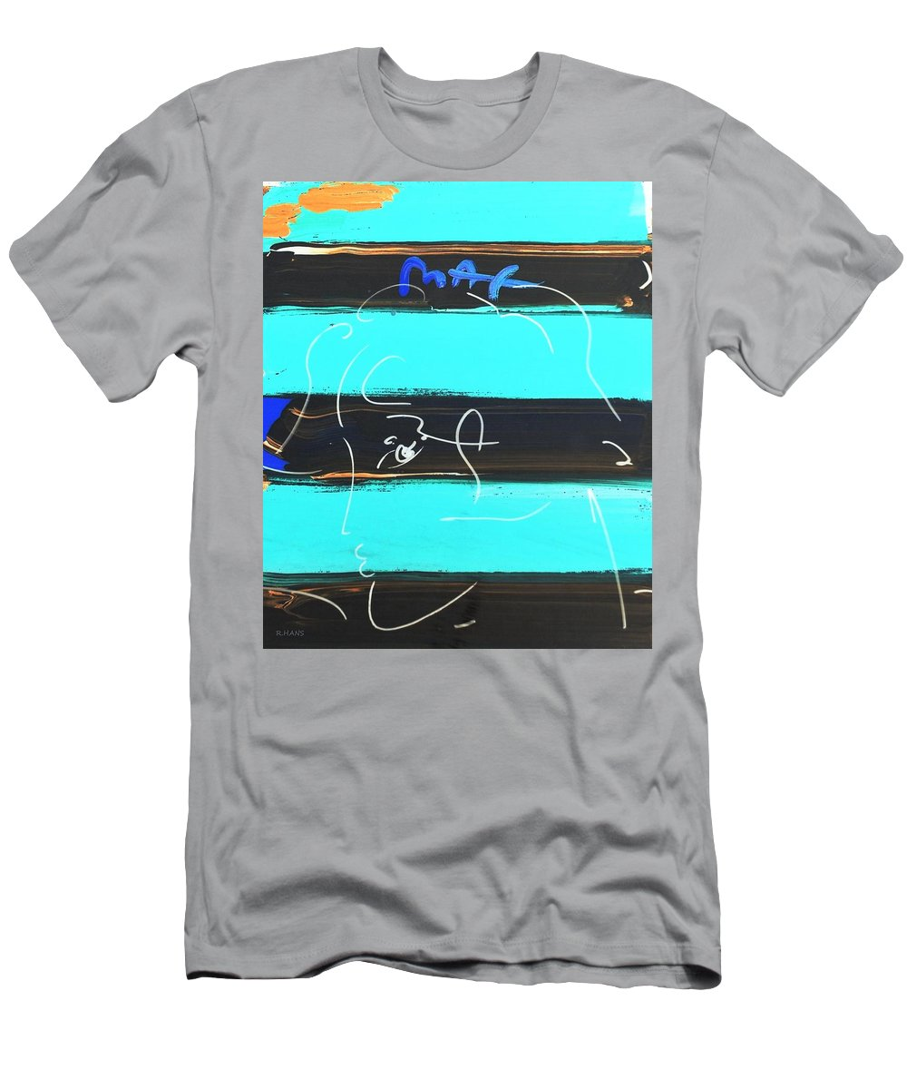 Modern Men's T-Shirt (Athletic Fit) featuring the photograph Max Woman In Negative by Rob Hans