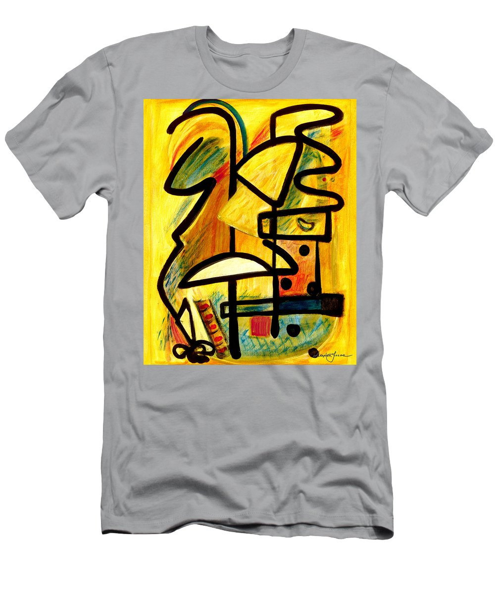 Abstract Art Men's T-Shirt (Athletic Fit) featuring the painting Mayan by Stephen Lucas