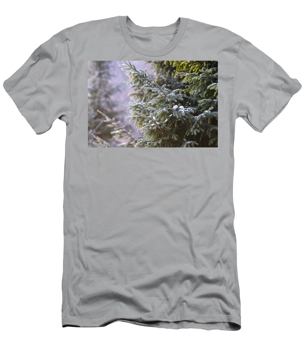 Backdrop Men's T-Shirt (Athletic Fit) featuring the photograph Merry Christmas 5 by Alexander Senin