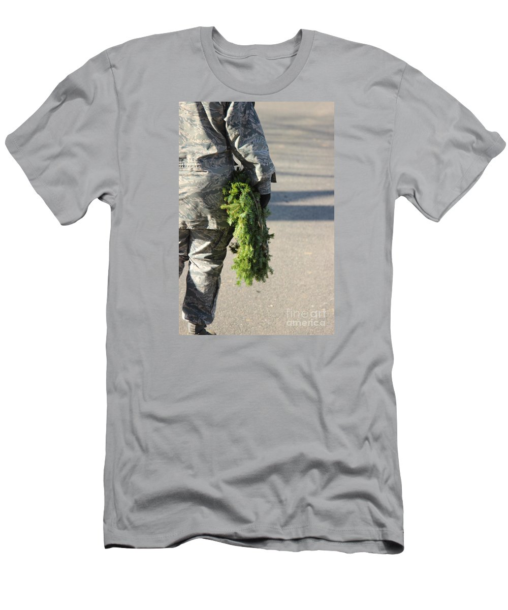 Military Men's T-Shirt (Athletic Fit) featuring the photograph Military Christmas by Tom Gari Gallery-Three-Photography