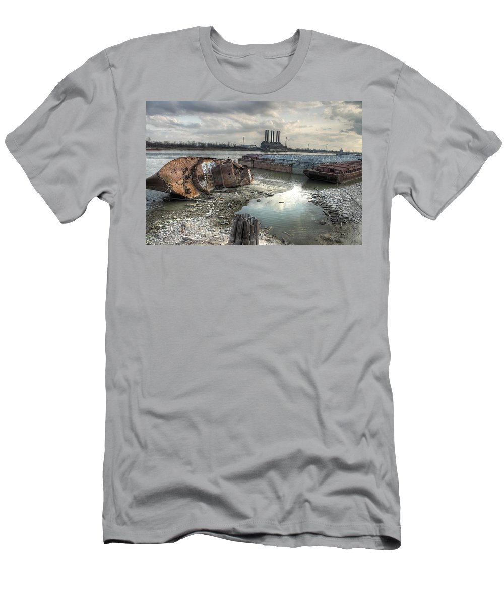 Mississippi River Men's T-Shirt (Athletic Fit) featuring the photograph Mississippi River by Jane Linders