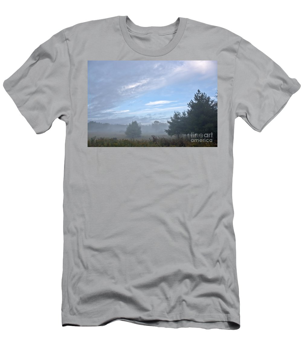 Men's T-Shirt (Athletic Fit) featuring the photograph Misty Monday by Cheryl Baxter