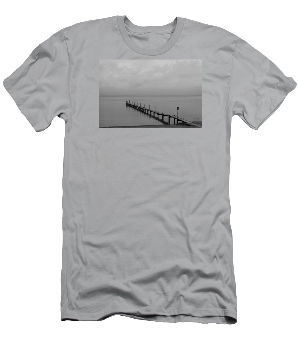 Chiemsee Men's T-Shirt (Athletic Fit) featuring the photograph Misty Morning At The Lake by Christiane Schulze Art And Photography