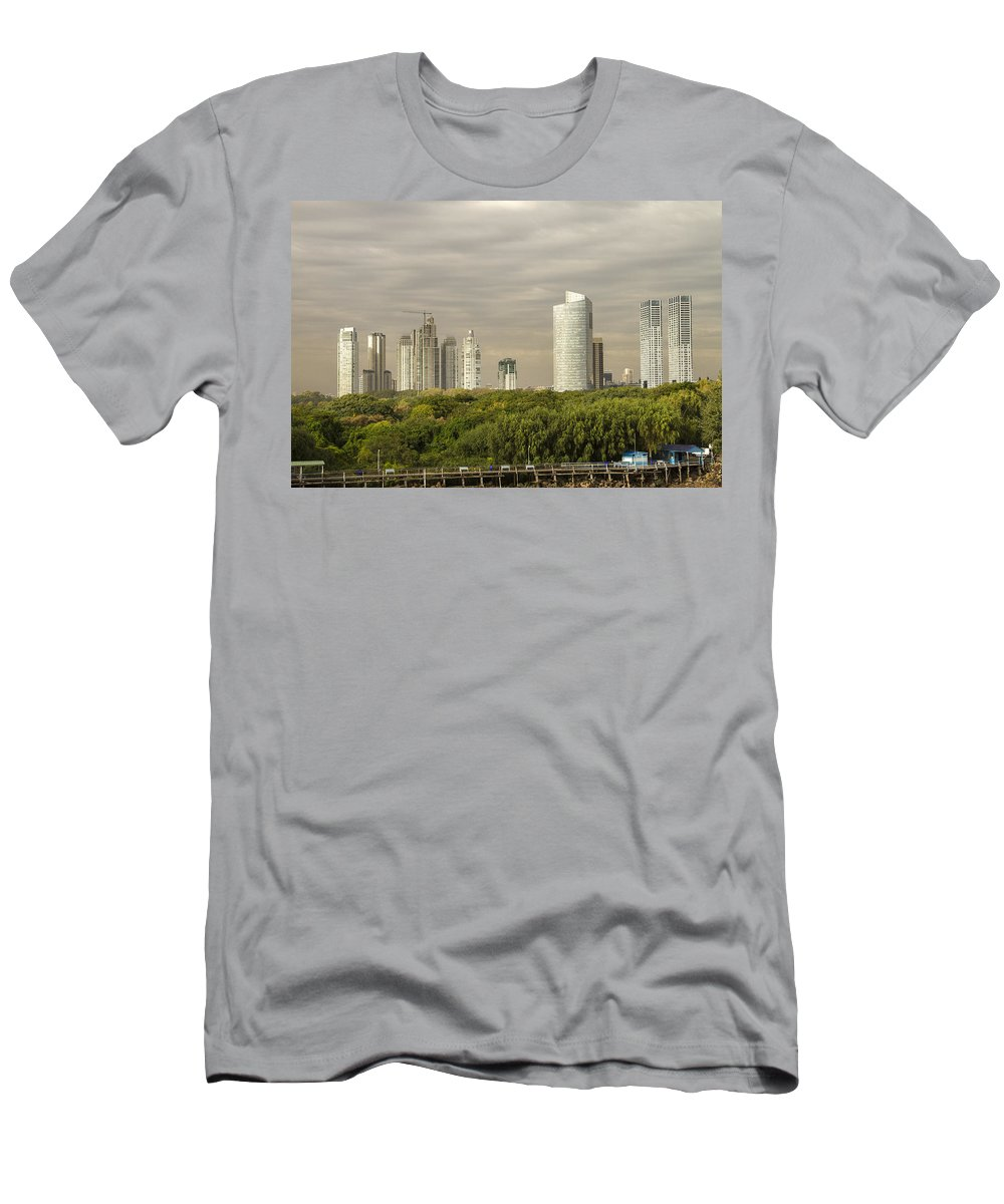 Buenos Aires Men's T-Shirt (Athletic Fit) featuring the photograph Modern Buenos Aires by For Ninety One Days