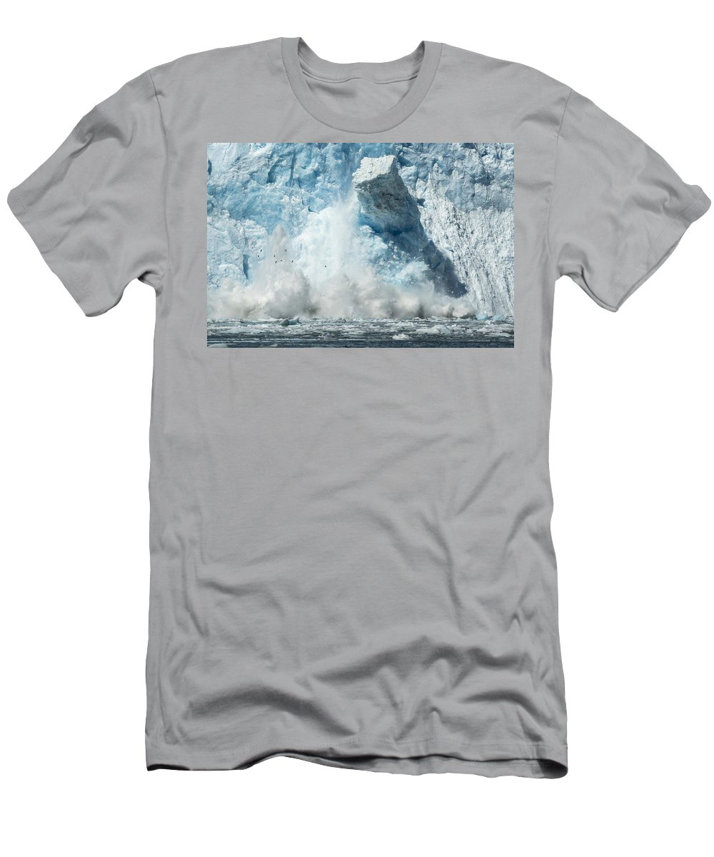 Glacier Men's T-Shirt (Athletic Fit) featuring the photograph Monolith by Ted Raynor