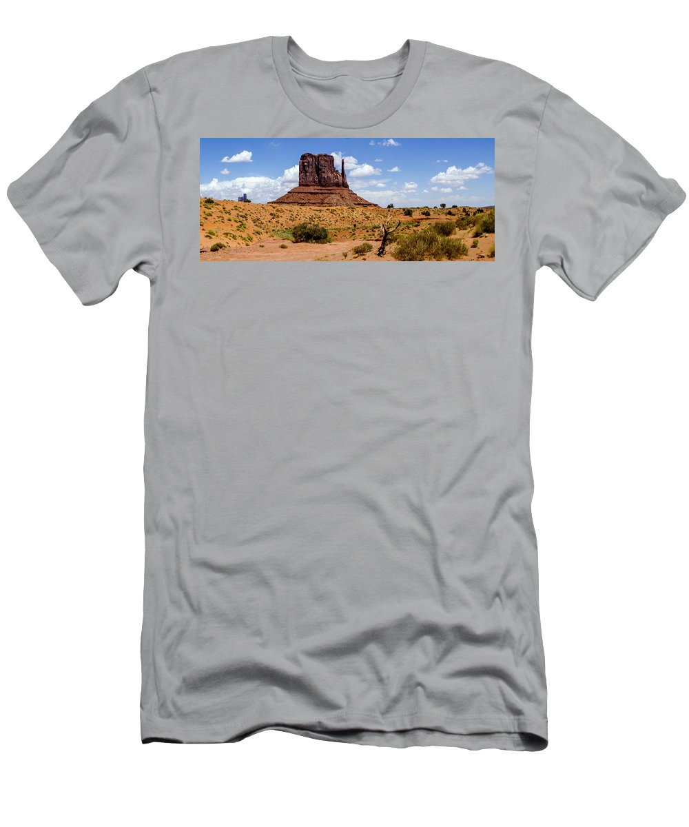Landscape Men's T-Shirt (Athletic Fit) featuring the photograph Monument Valley - Elephant Butte by Jon Berghoff