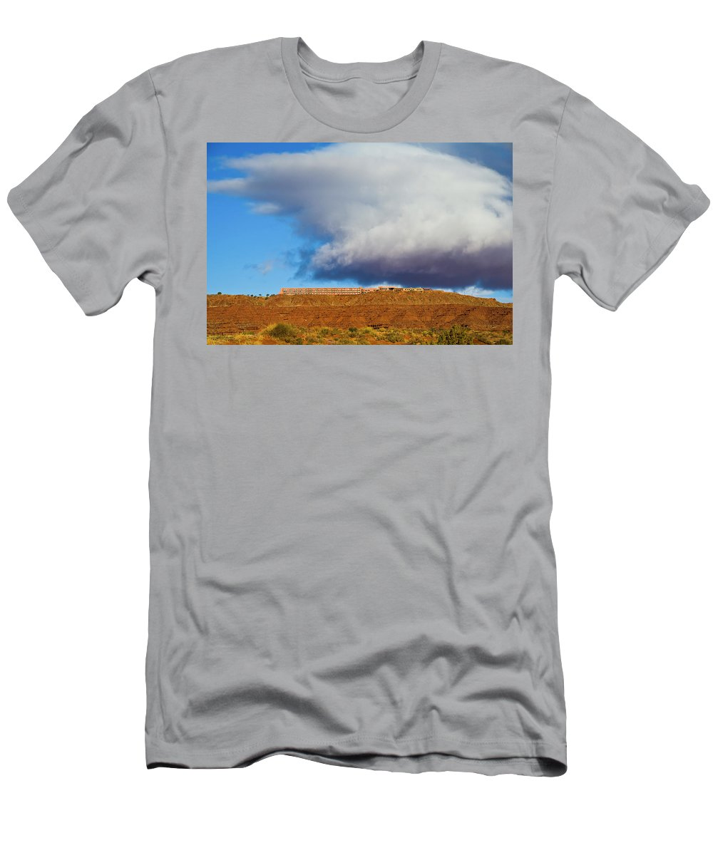 Monument Valley Utah Men's T-Shirt (Athletic Fit) featuring the photograph Monument Valley Ut 2 by Ron White