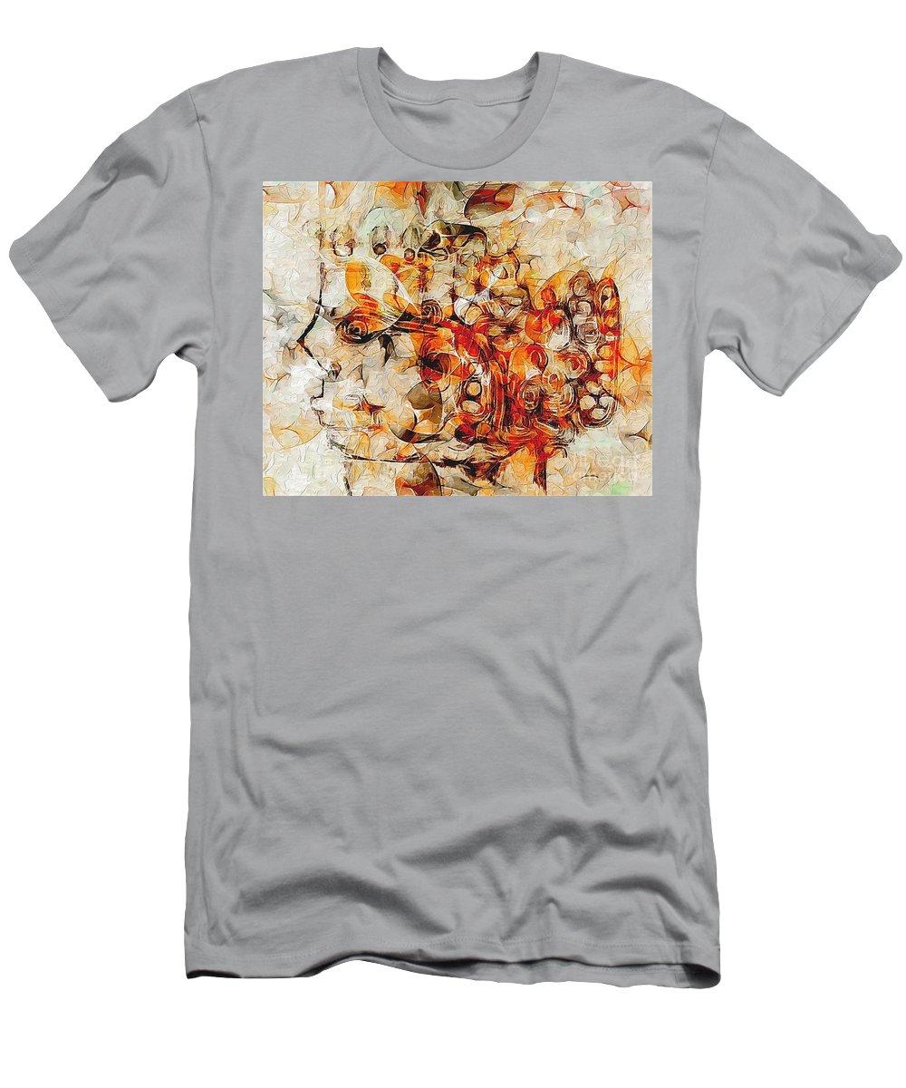 Graphics Men's T-Shirt (Athletic Fit) featuring the digital art Mosaic 0259 Marucii by Marek Lutek