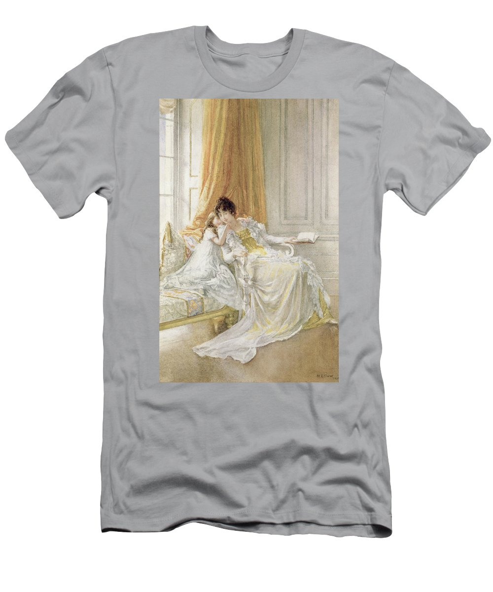 Portrait Men's T-Shirt (Athletic Fit) featuring the painting Mother And Child by Mary L Gow