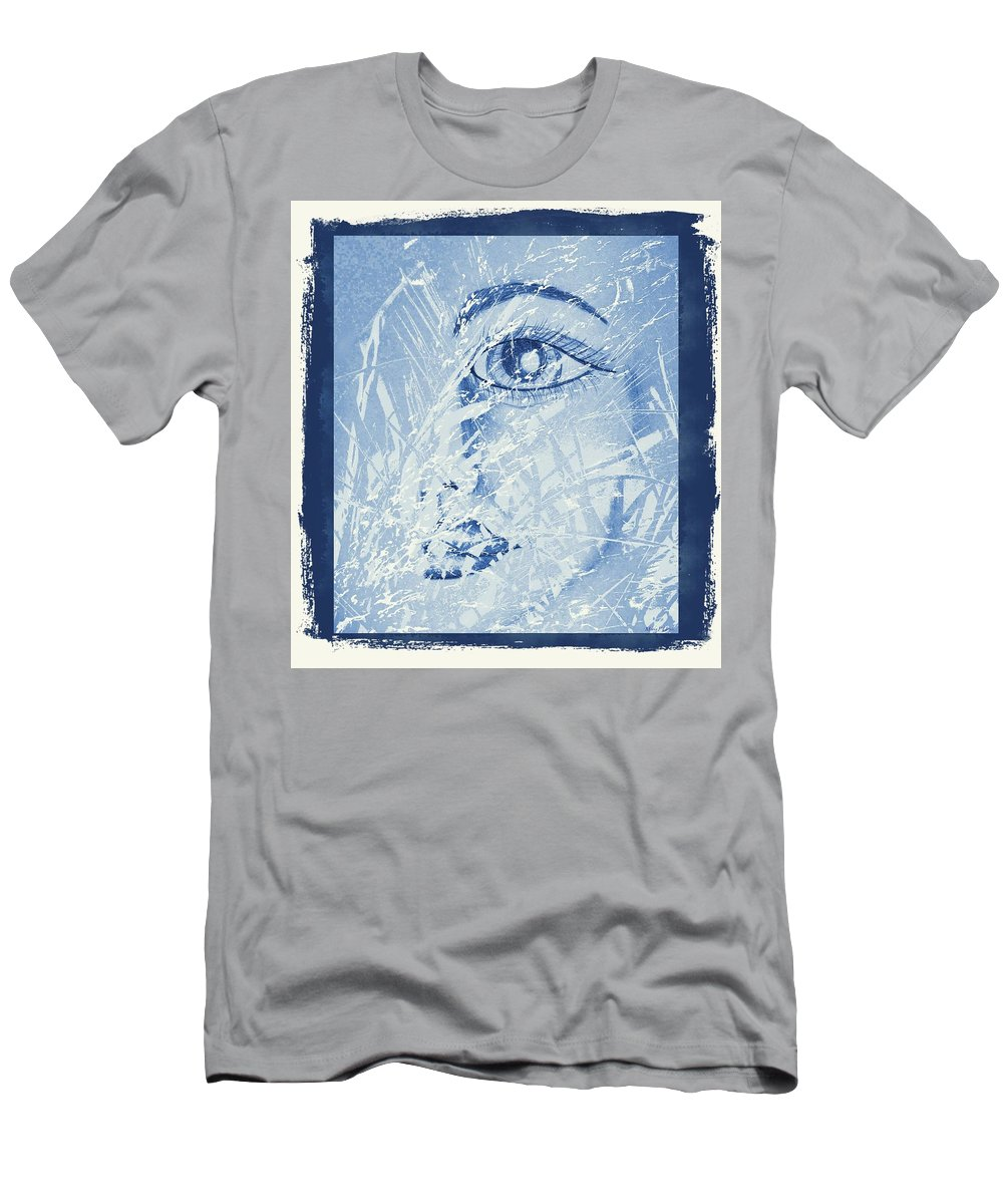Mother Of Nature Men's T-Shirt (Athletic Fit) featuring the digital art Mother Of Nature by Maria Urso