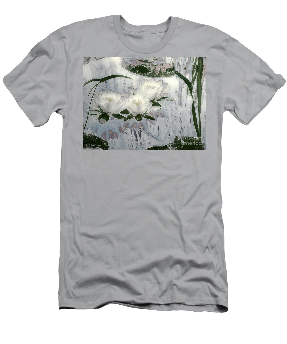 Asian Men's T-Shirt (Athletic Fit) featuring the painting Motif Japonica No. 1 by RC DeWinter
