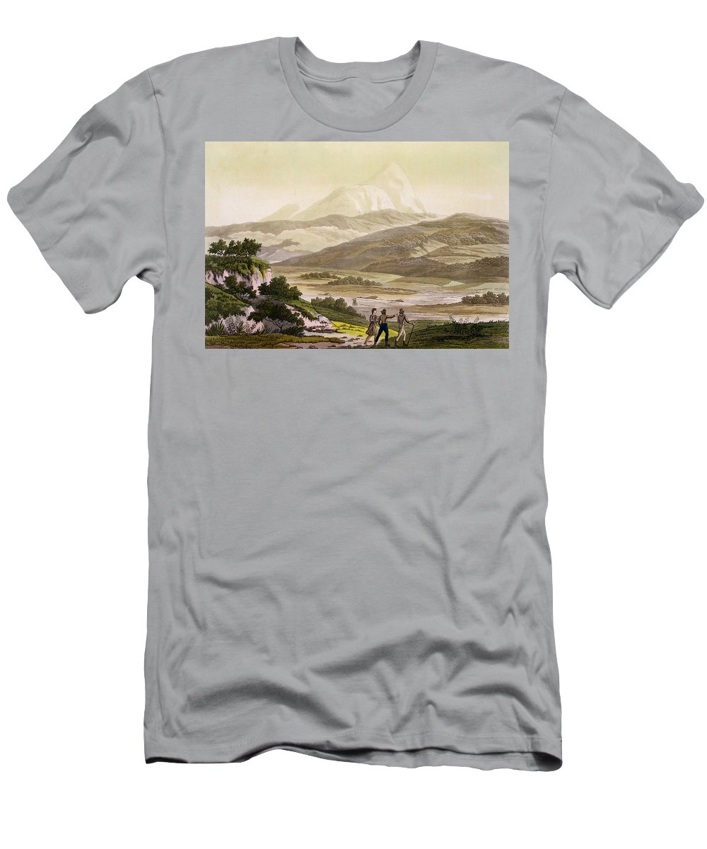 Giulio Men's T-Shirt (Athletic Fit) featuring the drawing Mount Cayambe, Ecuador, From Le Costume by Friedrich Alexander, Baron von Humboldt