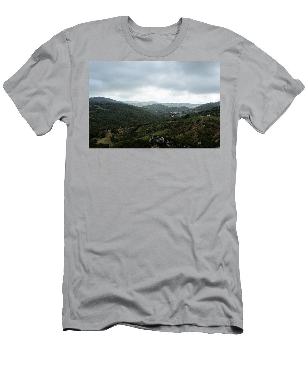 Landscape Men's T-Shirt (Athletic Fit) featuring the photograph Mountain Landscape by Andrea Mazzocchetti