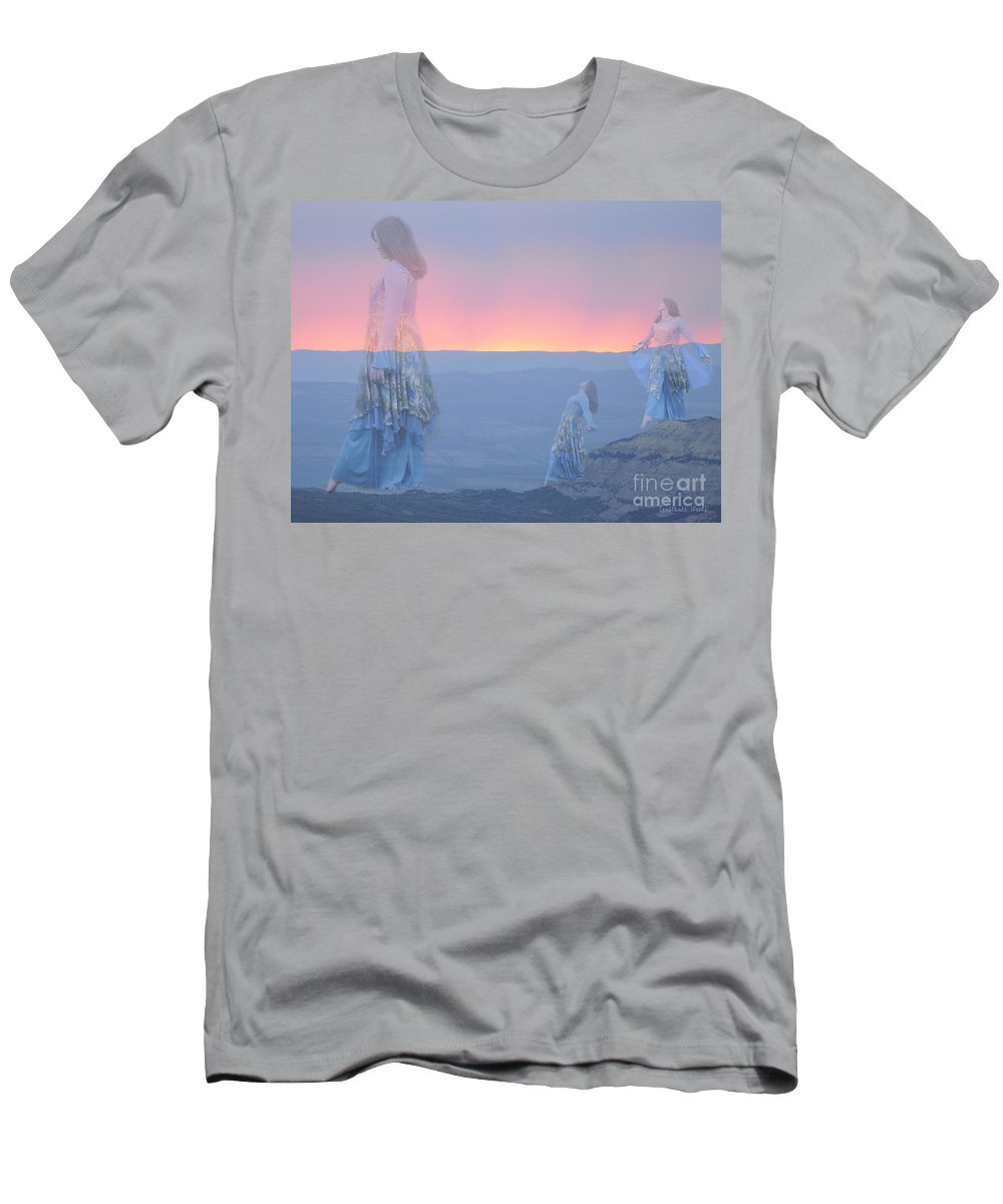 Dance Art Men's T-Shirt (Athletic Fit) featuring the painting Mountain Of Blessing by Constance Woods