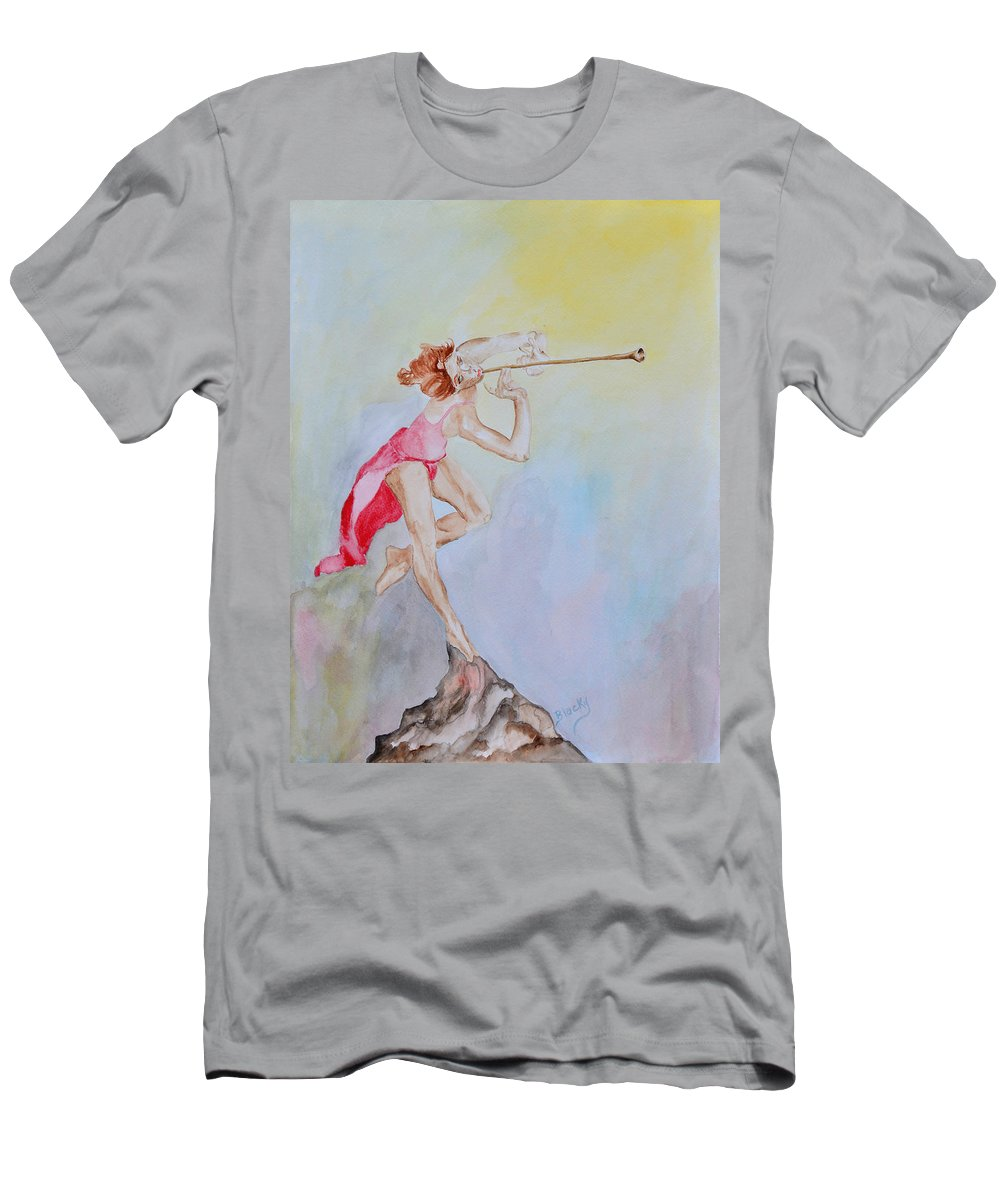 Painting Men's T-Shirt (Athletic Fit) featuring the painting My Muse by Donna Blackhall