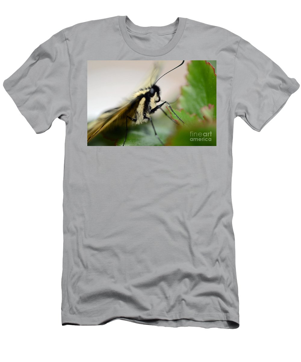 Insect Men's T-Shirt (Athletic Fit) featuring the photograph My Pet Butterlfy by Elaine Berger