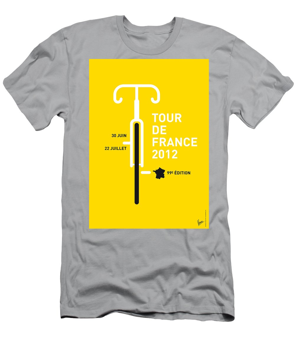 2012 Men's T-Shirt (Athletic Fit) featuring the digital art My Tour De France 2012 Minimal Poster by Chungkong Art