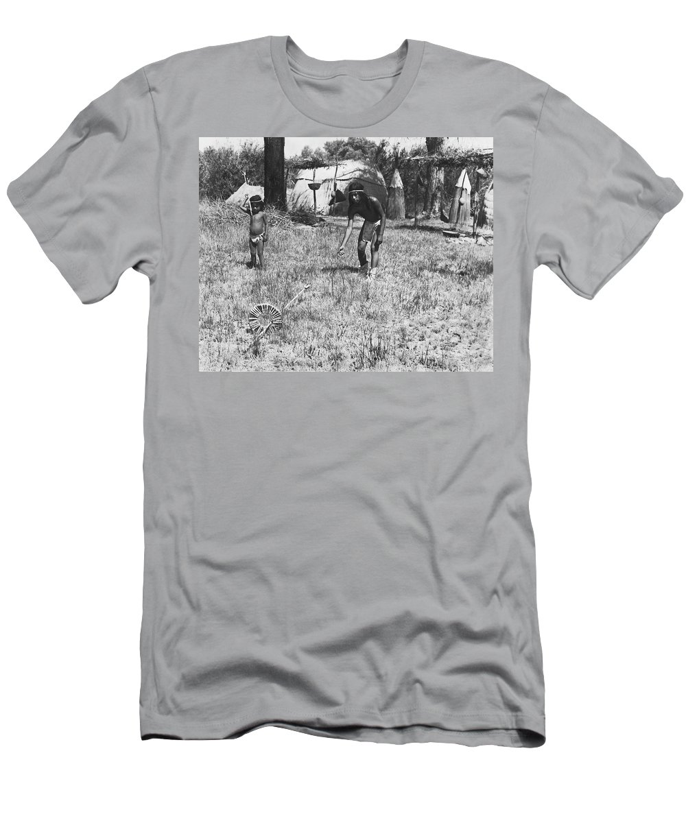 1920s Men's T-Shirt (Athletic Fit) featuring the photograph Native American Games by Underwood Archives Onia
