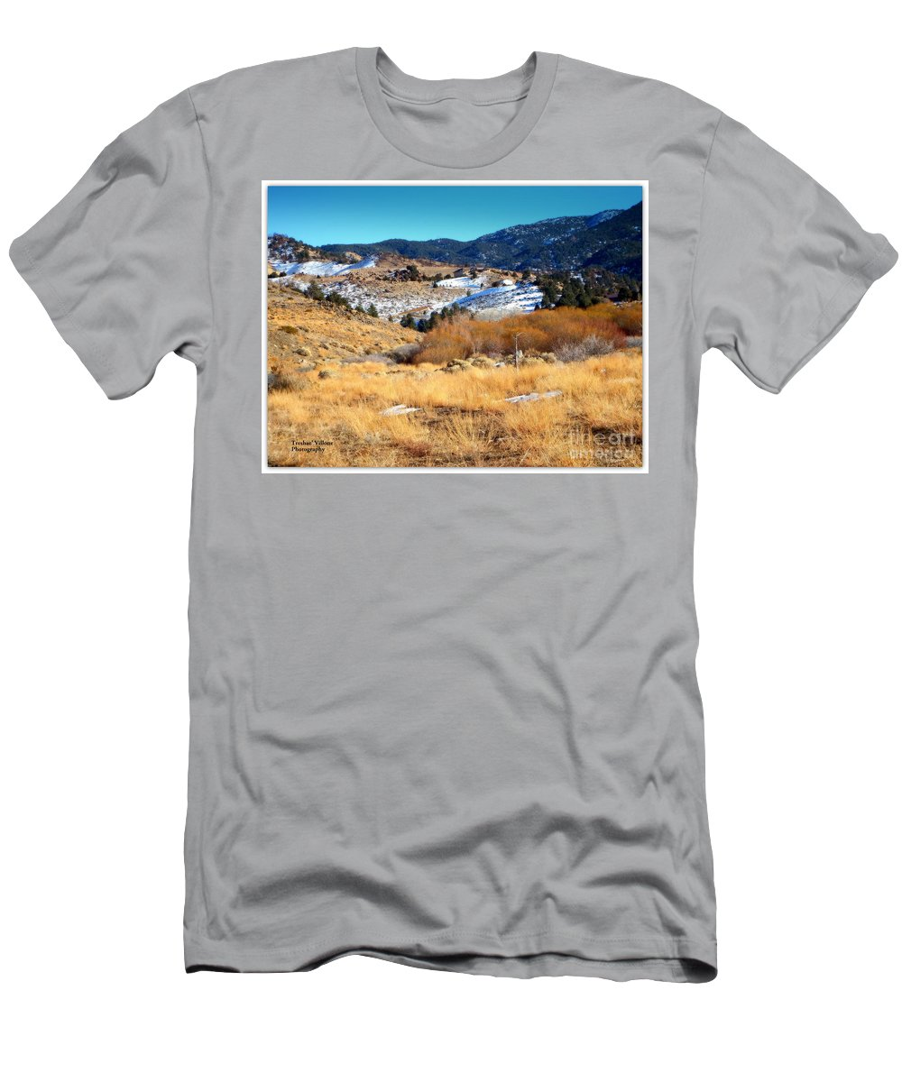 Acrylic Prints Men's T-Shirt (Athletic Fit) featuring the photograph Nevada Landscape by Bobbee Rickard